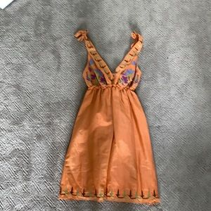 Orange floral dress from brand theme.  Size M